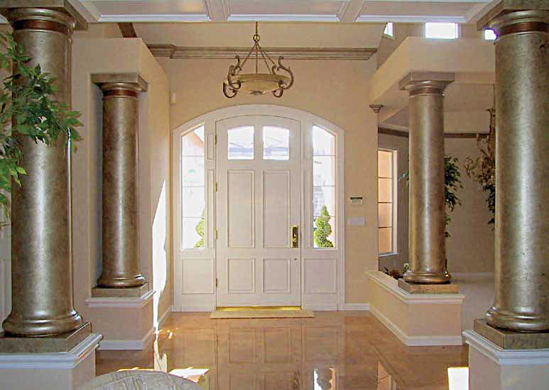 Foyer with Gold Pillars